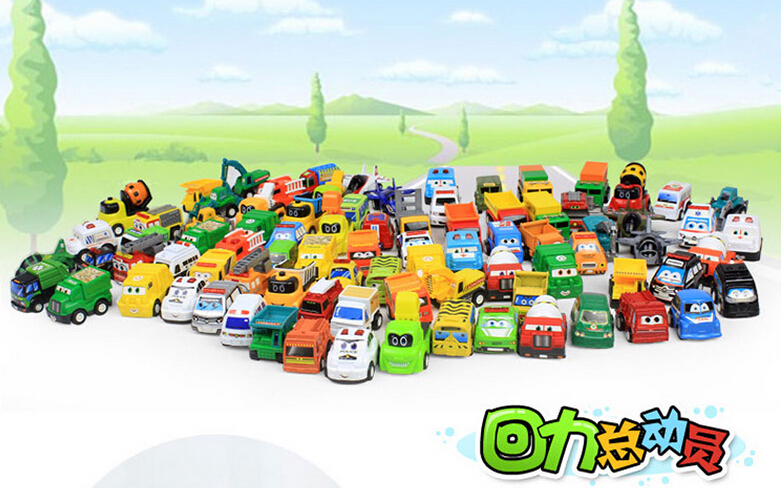 wholesale Toys numerous car model kit mini cars trucks engineering vehicles police inertial car(China (Mainland))