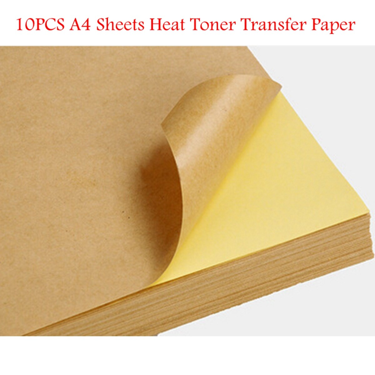 10pcs/lot Overvalue And Hot Sale Kraft Paper Heat Toner Transfer A4 Sheets Brown Kraft Printing Copy Label Paper(China (Mainland))