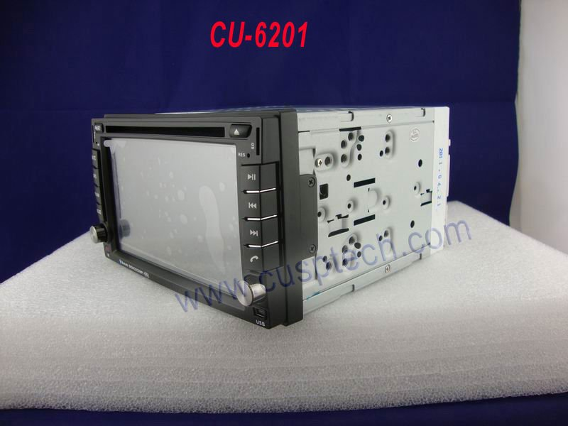 CU-6201  2 DIN 6.2 INCH TOUCH BUTTONS CAR DVD PLAYER WITH GPS