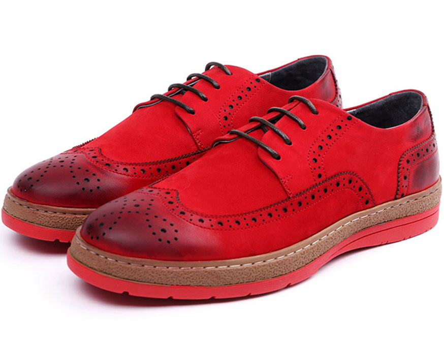 Fashion black / Red mens flats genuine leather outdoor shoes man casual shoes new mens oxfords shoes <br>