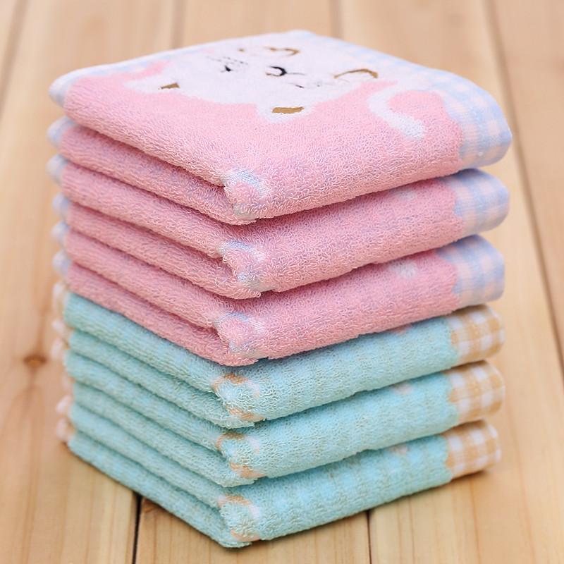 Towel 100% cotton children towel music cat baby gauze jacquard wool washouts beauty absorbent towel 25*50cm(China (Mainland))