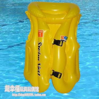 Free shipping Large the PVC inflatable lifejacket ABC swimming vest PVC inflatable swimsuit
