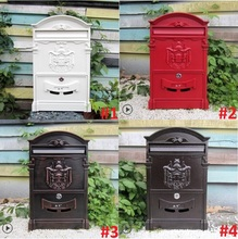 Antique Ancient Waterproof Rust Newspaper Boxes Wall MailBoxes Waterproof Villa Outdoor Postbox Mailbox Dome Decoration(China (Mainland))