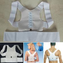 Magnetica della spalla torna postura correttore torna cintura di sostegno raddrizzare brace cintura ortopedica regolabile unisex salute(China (Mainland))