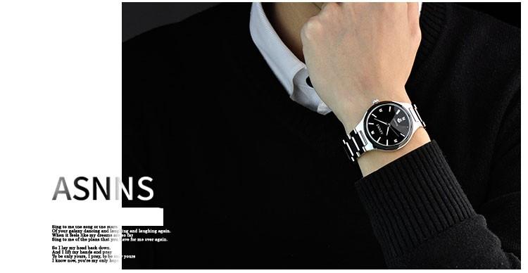 2016 кварцевые часы мужчин из нержавеющей стали top brand повседневная мода наручные часы мужской бизнес любовника, часы
