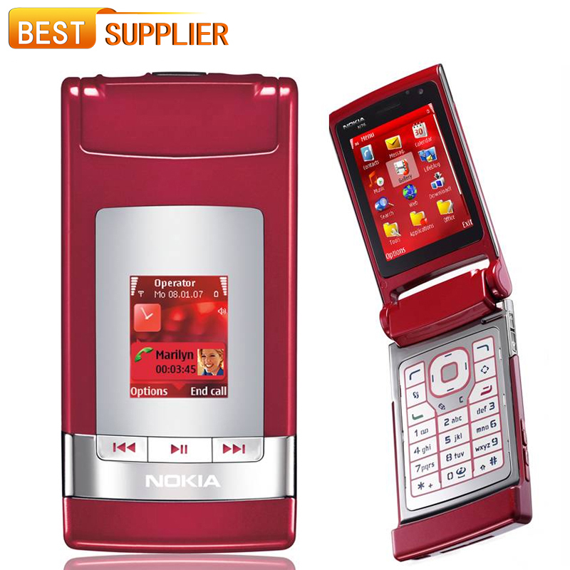 2016 Special Offer Time-limited Color Normal(>10mm) Flip Original Nokia N76 Mobile Phone Support English Russian Keyboard(China (Mainland))