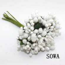 Free Shipping 12PCS/lot Mulberry party Artificial Flower Stamen wire stem/marriage leaves stamen For wedding box decoration