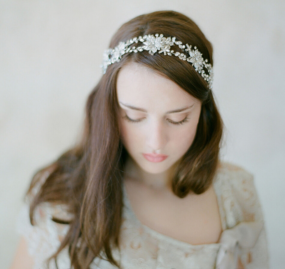 European simple style crystal headband bridal hair accessories womens headdress birthday party hair decorations hair jewelry<br><br>Aliexpress