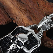 MN201 Stainless Steel Jewlery Men Gift Jewelry Necklace Skull Skeleton Necklace Pendant Fahion modern wholesale
