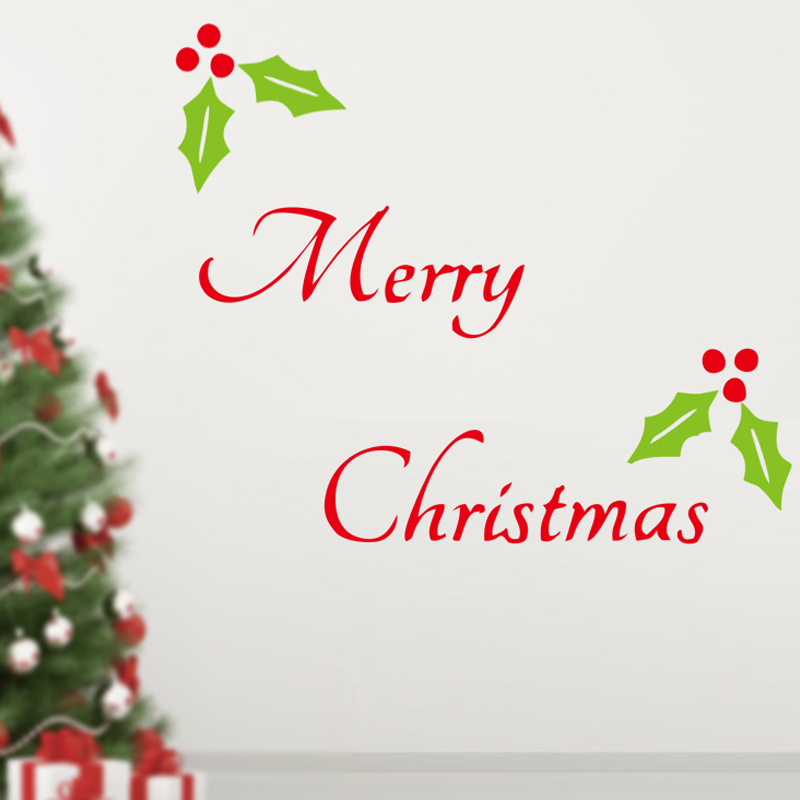 Merry Christmas Wall Stickers Christian Living Room Home