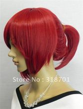 Free Shipping 2012 HEAT-RESISTANT FIBER Red pony tail cosplay wig Factory price(China (Mainland))