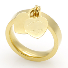 Hot Sale T Love Rings New Style Fashion Brand Women Ring 18k Gold Double Heart Ring Tif Ring For Women Anillos Amor Fine Jewelry(China (Mainland))