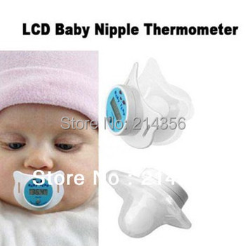 new digital LCD baby nipple thermometer,nipple-like digital thermometer for infants