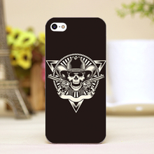 pz0024-2-42 skulls and CrossBones tattoo Design Customized cellphone cases For iphone 4 5 5c 5s 6 6plus Hard Shell Case Cover