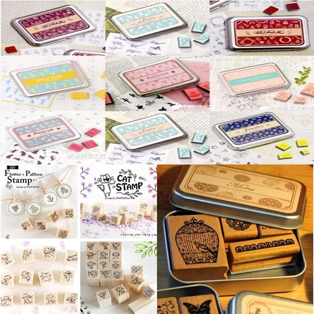 ( 24 различных стилей ) DIY скрапбукинг ангел штампы установить старинные деревянные резиновые ремесло чернила колодки алфавит штамп