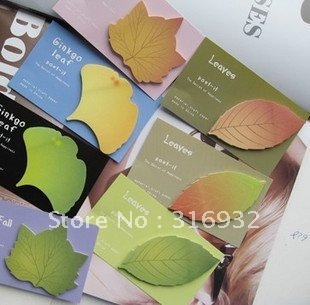 Fashion leaf design notepad memo pad stickers 30 pages ,Many styles