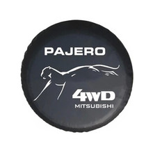 size L black 16  Inch New Universal Spare Tire Type Cover Wheel Covers for Mitsubishi Cheetah Lancer Kingbox Pajero V73 V71(China (Mainland))