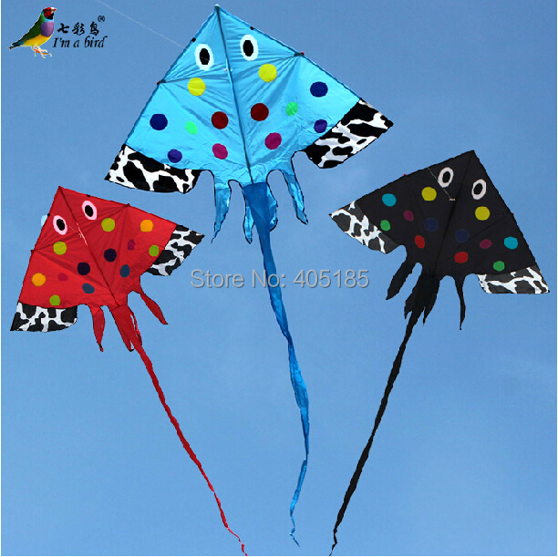Free Shipping Outdoor Fun Sports 2015 NEW 2.7m Power NagaoKite / Fish Kites With Handle and String Good Flying(China (Mainland))