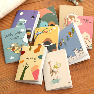 3098 South Korea creative stationery cute cartoon animals 120K mini notebook diary book wholesale 3 pcs/set mixed color<br><br>Aliexpress
