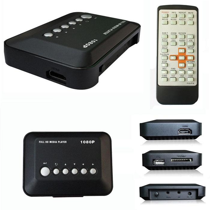 Tops New Arrival HD 1080P USB Hard Drive Upscaling Multi Media Player MKV AVI RMVB Free Shipping&Wholesale Tops(China (Mainland))