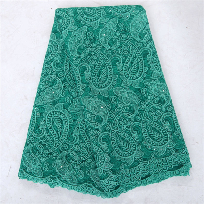 Fish pattern wine teal green new arrival beaded african french net lace fabric with rhinestone for wedding party dress F50282