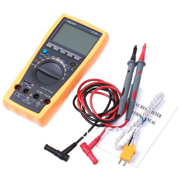 VICHY VC99 3 6/7 Auto range digital multimeter with bag better FLUKE 17B+free shipping dropshipping(China (Mainland))