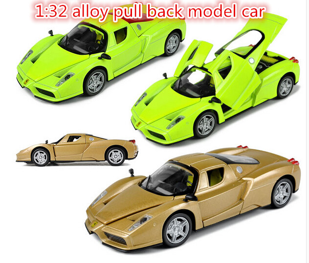 Supercar cars for Enzo 1:32 alloy Diecast pull back music flashing model Simulation car Electric Simulation kids toys(beibei006)(China (Mainland))