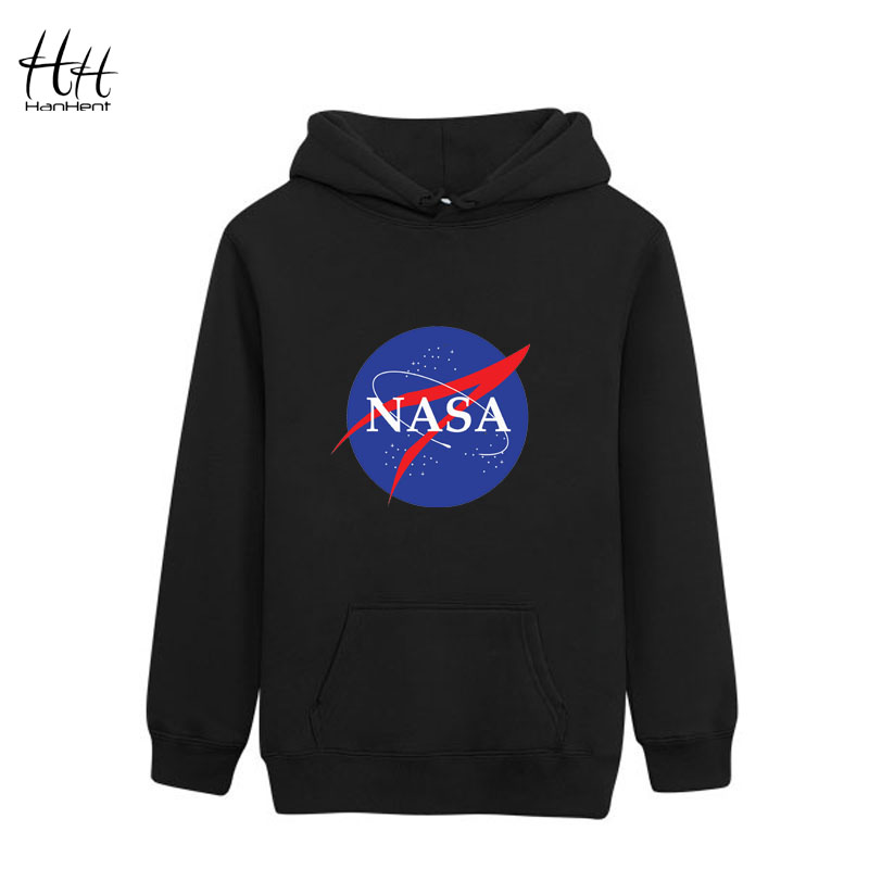 HanHent Spring New Mens NASA Printed Thin Sweatshirts Men Hoodies Cool Designer Casual Fitness Clothing Hooded HO0376(China (Mainland))