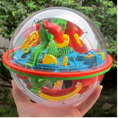 Magic Intellect 3D Puzzles For Children Ball Maze IQ Teaser Game Juguetes Educativos Educational Kids Children Toy(China (Mainland))