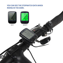 Buy Sunding SD 563B Waterproof LCD Display Cycling Bike Bicycle Computer Odometer Speedometer Green Backlight new arrival for $4.75 in AliExpress store