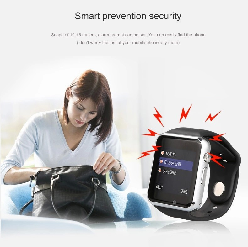 image for NEW A1 W8 Bluetooth Smart Watch Sport For IPhone 4/4S/5/5S/6/6+ IOS Fo