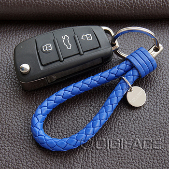 High quality PU leather String car auto key chain keyring holder for VW polo golf Opel astra h g chevrolet cruze mercedes benz