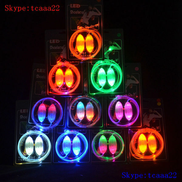 colorful magic led flashing shoelaces(China (Mainland))