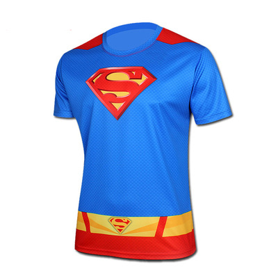 Men T Shirt Fashion Short Sleeve Spiderman Superman Venom Captain America Batman Iron Mans T Shirt