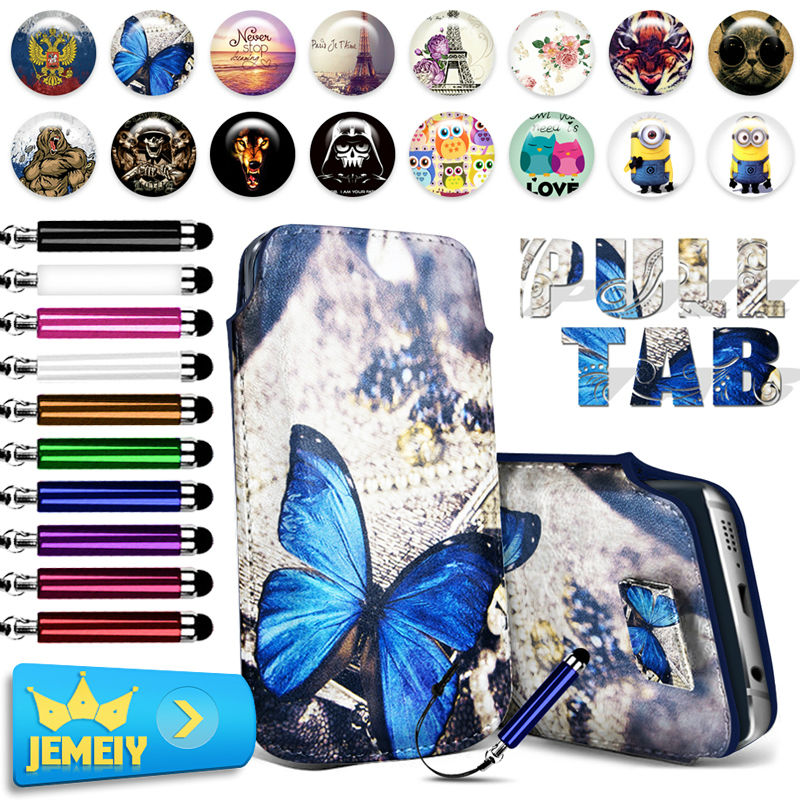 Hot Sale! For SONY Xperia T2 Ultra T3 M50W D5102 D5103 Z3 Case Print PU Leather Pull Tab Sleeve Pouch Bag Cover Cases Large Size(China (Mainland))