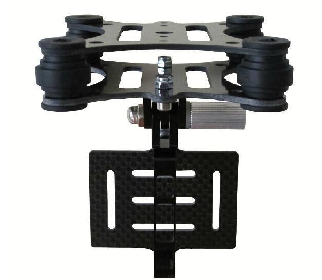 F10043 Carbon Fiber Camera Gimbal Mount FPV Damping PTZ for DJI Phantom Quadcopter Multicopter Gopro Hero 3 + Freeship