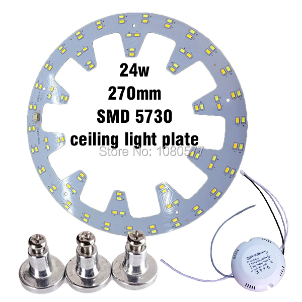 24w x2 LED Ceiling Light Plate SMD 5730 Led pcb Retrofit Magnet Board Remoulding Plate With Driver and Magnetic Legs(China (Mainland))