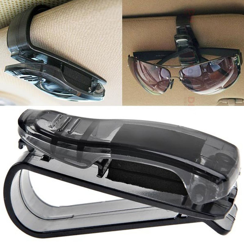 Vehicle car-styling New hot Car Sun Visor glasses case Sunglasses case Ticket Receipt Card Clip Storage Holder dig637