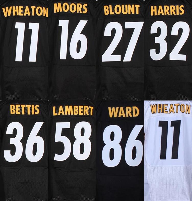 #11 Wheaton jersey, #16 moors #27 blount #32 Harris # 86 ward jersey, Jersey Genuine, Tamanho ml XL XXL XXXL(China (Mainland))