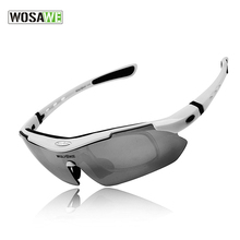 Buy WOSAWE Men Polarized Cycling Glasses Outdoor Sports Bicycle Glasses Bike Sunglasses TR90 Goggles Cycling Eyewear 5 Lens White for $14.50 in AliExpress store
