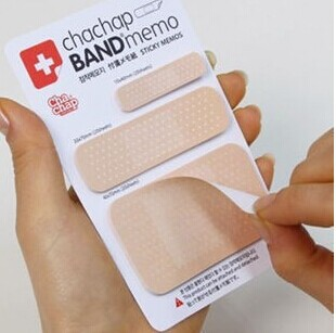 1PC/Lot Novelty Band Aid type sticky Memo pad Post it notes Stationery office supplies School supplies(China (Mainland))