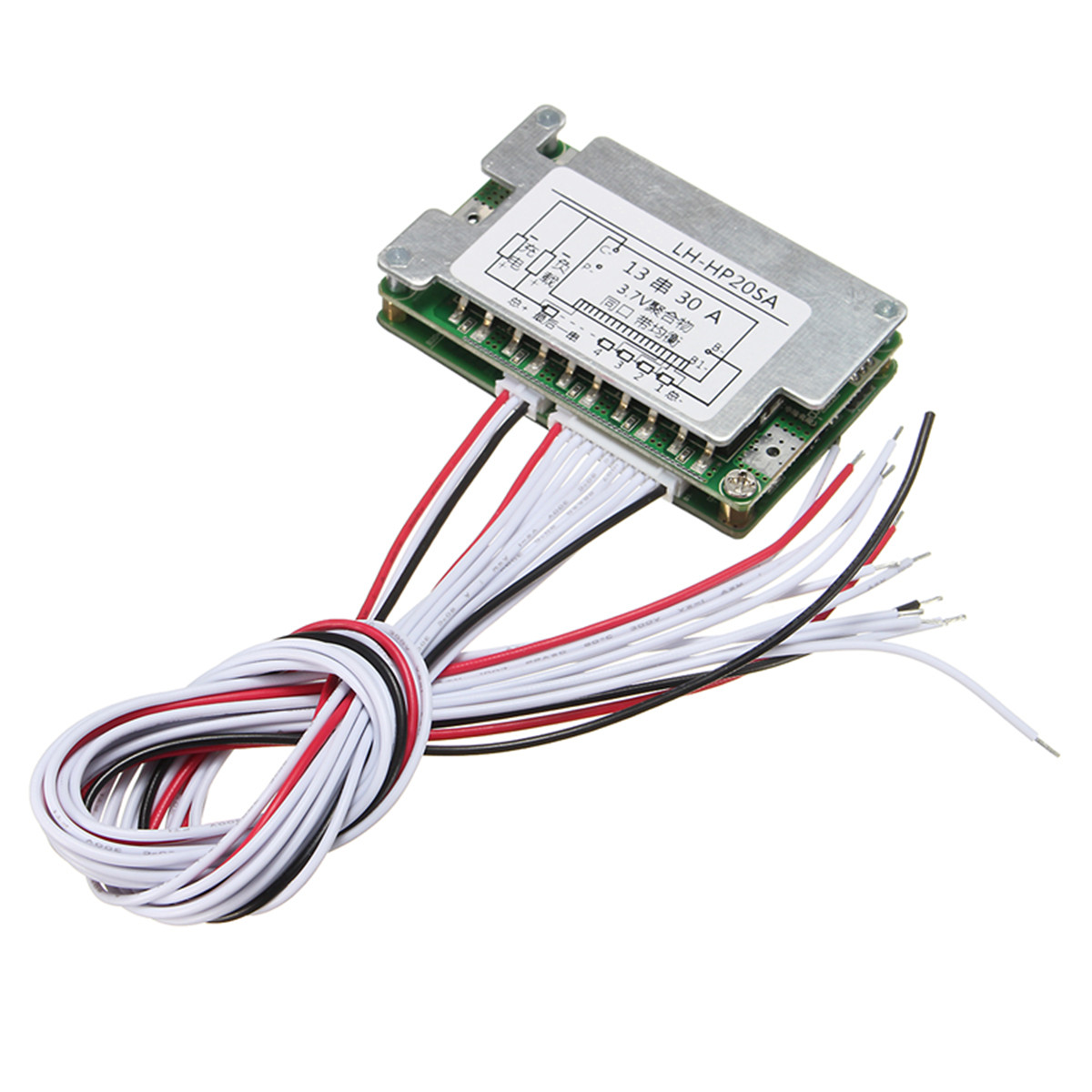 48V BMS 13S Li-ion Battery 30A Lithium Battery Protection Board Balance + Wire Board Module 70x45x15mm Integrated Circuits(China (Mainland))