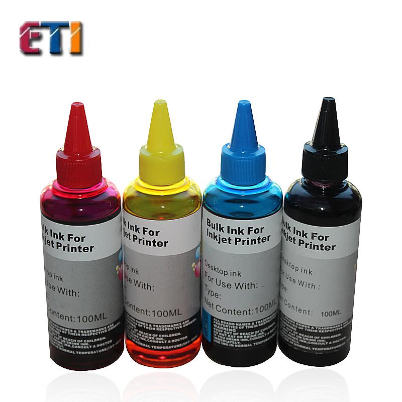 4X100ML Ink For HP46XL 46XL Ink for HP2520 DESKJET 2025 2020HC filled with ink printer cartridges HP46 black color<br><br>Aliexpress