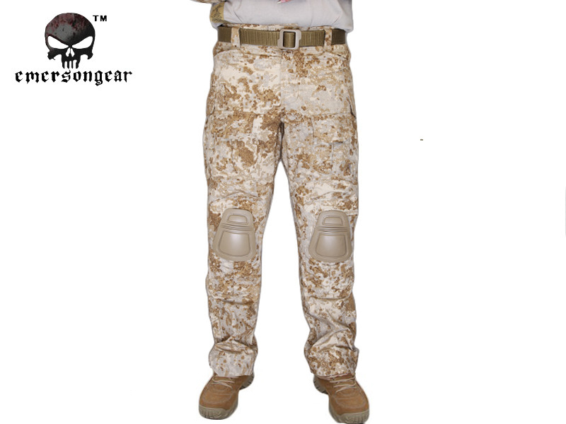 Emersongear G3 Combat Pants With Knee Pads Military Army Airsoft Tactical Gear Military Camouflage Trousers Sandstorm EM7040  SS