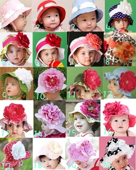Retail-Modeling baby big flower hat/Shape infant&toddler's beanie sunbonnet/Children's sun hat/girl's sunhat/Floral Kids cap