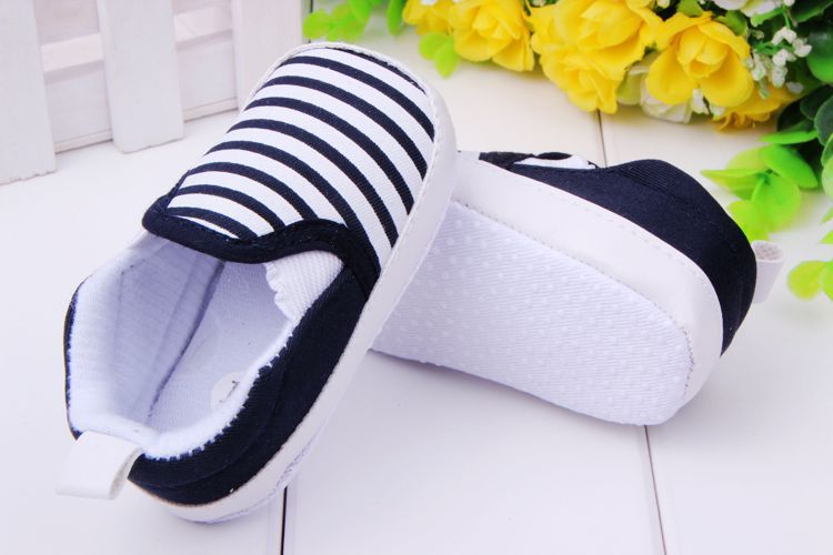 Top quality brand new casual 3-12M Baby Boys Girls Stripes Anti-Slip Sneakers Soft Bottom Shoes First Walkers baby shoes 082(China (Mainland))
