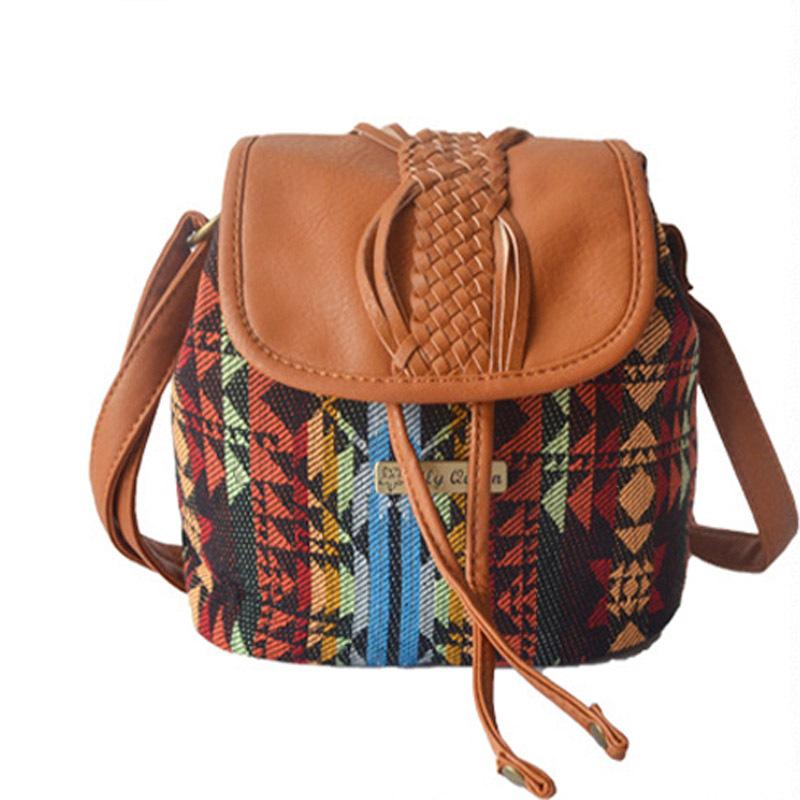 Fashion Women Handbags European and American Style Shoulder Bag Argyle Plaid Bucket Canvas Messenger Bags Lady Crossbody Bags(China (Mainland))