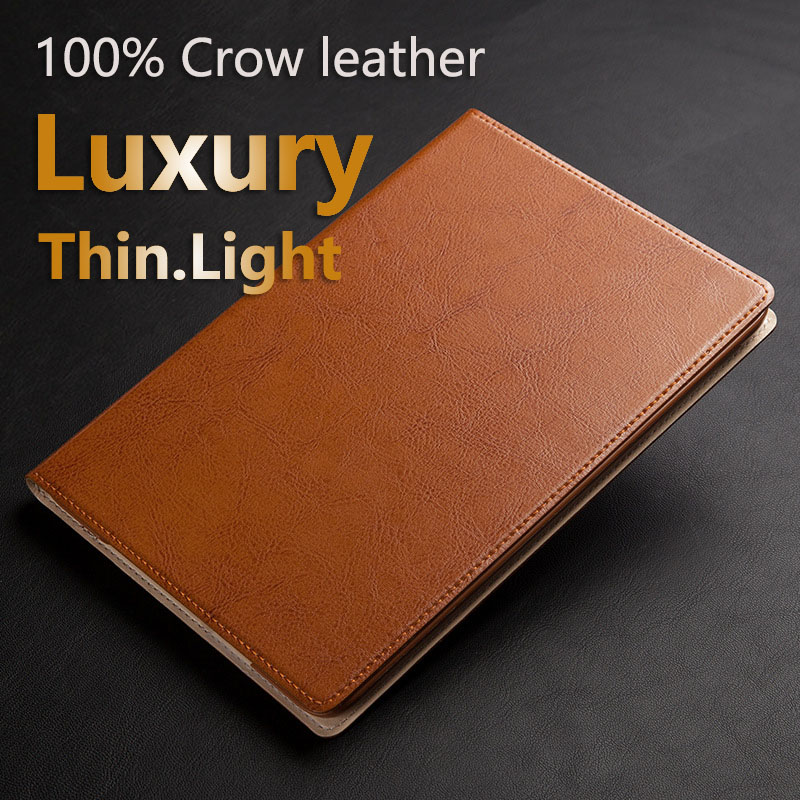 Luxury 100% Cow Leather Case For iPad 2 3 4 Air Air 2 Stand Holder Protective Magnetic Smart Cover Caseing(China (Mainland))