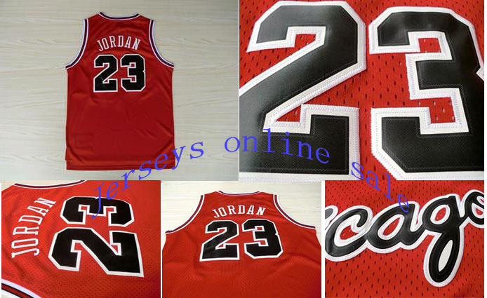 Cheap Chicago Red Retro Throwback Basketball Jerseys #23 Michael Jordan Jersey, Top Quality, Embroidery Logos(China (Mainland))