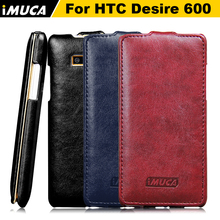 IMUCA Original Brand PU Leather vertical flip Cover For HTC Desire 600 606w dual sim case Mobile Phone Protective Cases(China (Mainland))